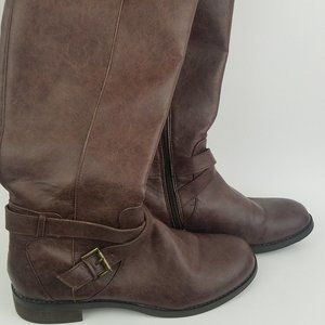Kenneth Cole Reaction 9 Brown Knee High Boots